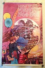 Original 1964-1965 New York World's Fair Promotional Unisphere Poster (Bob Peak)