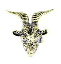 vintage antiguo retro estilo bronce cabra charm tipo anillo