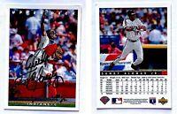 Sandy Alomar Jr. Signed 1993 Upper Deck #255 Card Cleveland Indians Autograph