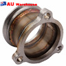 """76mm V-Band Turbo Downpipe Adapter Flange 3 Bolt T3 To 3"""" V-Band Gt303071r"""