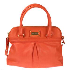 "Marc Jacobs ""The Park"" Leather Crossbody Shoulder Bag Purse - Coral MSRP $795"