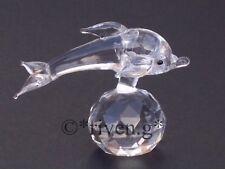 DOLPHIN & BALL@GORGEOUS AUSTRIAN CRYSTAL MAMMAL@Crystal Gifts@MARINE FIGURINE