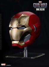 Marvel Captain America Civil War 1/1 Iron Man MK46 Helmet Automatic On-off Wear