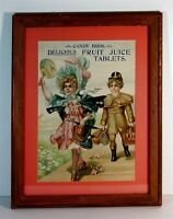 c1905 CANDY BROTHERS CHROMOLITHOGRAPH CANDY ADVERTISING SIGN VICTORIAN CHILDREN