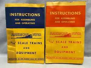 """2 AMERICAN FLYER 3/16"""" scale train Instruction books (1947 & 1949)"""
