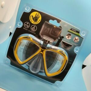 Body Glove Snorkel/Swim Goggles with GoPro Mount Yellow Adult Size