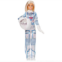 Barbie Careers Astronaut Doll 60th Anniversary Blonde White Space Suit & Helmet
