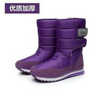 WOMENS LADIES FUR LINED QUILTED RAIN MOON SKI WINTER SNOW BOOTS SHOES SIZE A105