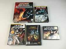 Lot of 5 Star Wars PC DVD Games Battlefront 1 & 2 Empire At War Old Rep Galactic