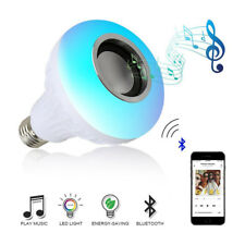 7W E27 Remote Controllor Bluetooth Wireless LED Bulb Play Lamp Stereo Speaker