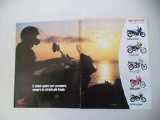advertising Pubblicità 2001 MOTO HONDA AFRICA TWIN 750/TRANSALP 650/DOMINATOR