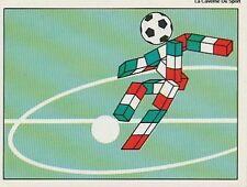 N°034 MASCOTTE MASCOT CIAO PANINI WORLD CUP 1990 STICKER VIGNETTE 90
