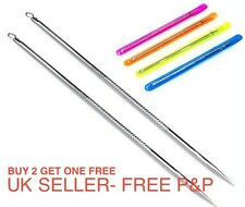 -UK- Blackhead Remover Cleaner Acne Cleanser Needle Pimple Spot Extractor (060)