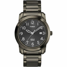 Timex T2P135, Men's Black Dress Expansion Watch, Indiglo, Date