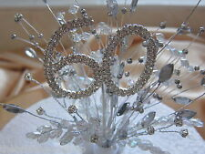60th Diamond Wedding Anniversary Birthday Diamante Crystal Cake Topper