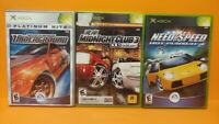 Need For Speed Game Lot - Microsoft Xbox OG Tested Hot Pursuit 2, Underground