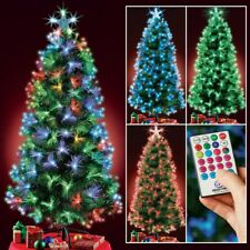 4 Foot Tall Color Changing Fiber Optic Christmas Tree with Remote Control