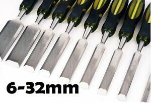 1-9pcs Piece Wood Chisel Set 6MM-32MM WOODWORKING Steel Chisels DOWD