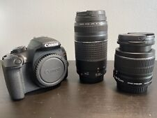 CANON EOS REBEL T6 18.0MP DIGITAL CAMERA W/ 18-55mm & 75-300mm and Case