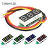 """3 Wire 0.28"""" DC 0-100V Voltmeter LED Panel Digital Display Voltage Meter Car LCD"""
