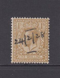 GB KGV 1s. Bistre-Brown SG429 King George V 1924 Very Good Used Stamp 1/-