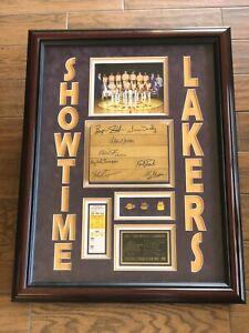 Lakers Showtime Multi Autographed Forum Floor Johnson Jabbar PSA Becket Authenti