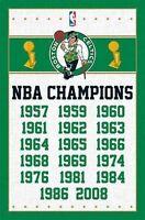 BOSTON CELTICS - NBA CHAMPIONS POSTER - 22X34 BASKETBALL LOGO 6709