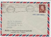 norway 1949 stamps cover ref 19410