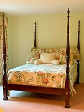 """Pencil Post Bed 88""""L 66""""W 84""""H  Frame With Headboard And Foot Board"""
