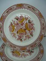 Ridgway Canterbury Dessert Plates x 2 20.5 cm Red White Vintage British