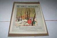 VINTAGE MAGAZINE AD #1203 - 1924 CADET HOSIERY - WINTER
