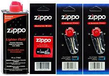 4 Ounce Fuel Fluid & 2 Pack Flint (12Flints) & 1 Wick for Zippo Lighters