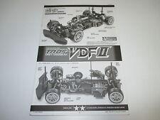 Tamiya 1/10 TA05 VDFII 2 4WD Drifter Instruction Manual Book ONLY OZ RC Models