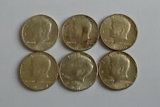More details for 1964 to 1969 us half dollar silver usa 6 coins