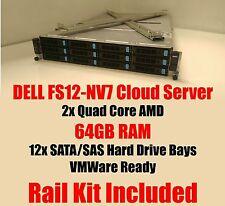 Dell FS12-NV7 Quad Core 2.1Ghz 32GB RAM Cloud Server VMWare Ready Rack Kit