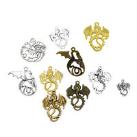 10Pcs/Lot Mixed Color Dragon Shape Pendants Charms Crafts for DIY Jewelry Making