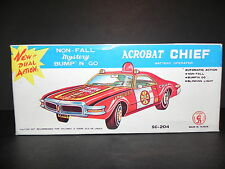 ACROBAT CHIEF BATTERY OPERATED - VINTAGE MADE IN TAIWAN - BUMP 'N GO w ORIG BOX