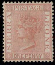 SIERRA LEONE #23b (SG24) 1p rose red, unused, regummed, VF, B.P.A. certificate