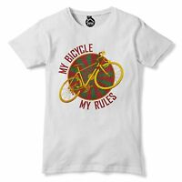 My Bicycle Rules T Shirt Vintage Retro Bike Old School Racing Tshirt Tour De 151