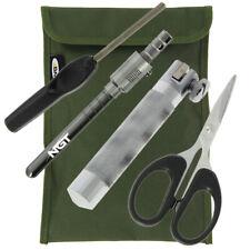NGT Carp Fishing Tackle Rig Tying Tool Braid Scissors Hook Sharpener + Clamp