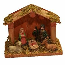 Christmas Nativity Figure and Stable Scene - 5 Figures