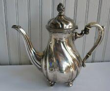 Vtg GERMAN 835 SILVER TEAPOT teapot 700 grams Handcrafted L & CO #3370