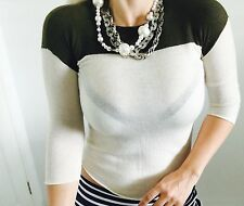 SEED HERITAGE Designer Quality WOOL KNIT TOP SZ XS
