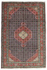 Vintage Tribal Oriental Ardabil Rug, 7'x10', Blue/Red, Hand-Knotted Wool Pile