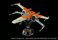 Display stand angled + slots for Lego 75273 Poe Dameron's X-wing Fighter (A1061)