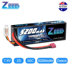 Zeee 5200mAh 50C 2S 7.4V Lipo Battery Hardcase Deans Plug for RC Car Buggy Truck