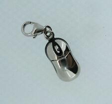 argento sterling con clip su smalto MOUSE COMPUTER ciondolo