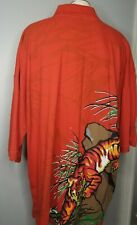 Mens 4XL Tiger Graphic Polo Shirt ASK DNM Attitude Street Wear All Over Print
