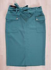 NEXT TAILORING size 14 green PENCIL SKIRT summer MATCHING BELT pockets