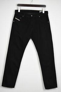 DIESEL KRAYVER REGULAR SLIM-CARROT 008QU Men's W32/L32 Black Jeans 35920_GS